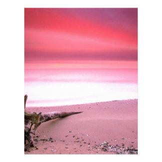 Beach Chesapeake Bay Purple Sky Letterhead