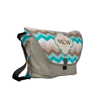Beach Chevron Zigzag Monogram Messenger Bags