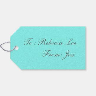 beach chic turquoise aqua Robins Egg Blue Gift Tags