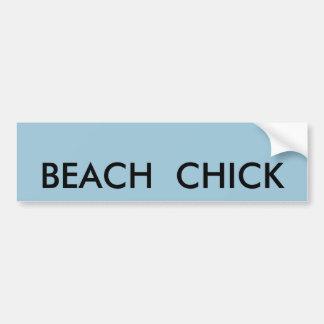 BEACH  CHICK BUMPER STICKER