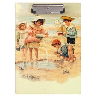 Beach Children Vintage Victorian Sand Clipboard