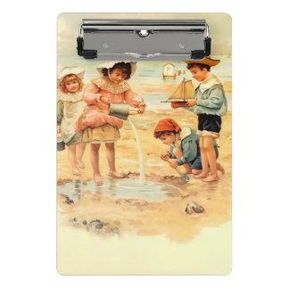 Beach Children Vintage Victorian Sand Mini Clipboard