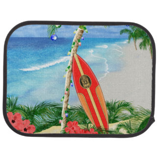 Beach Christmas Car Mat