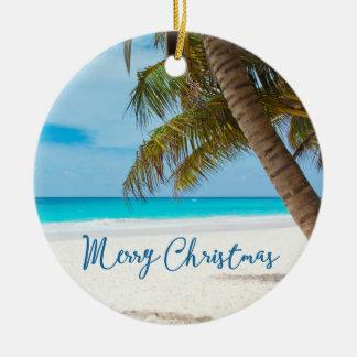 Beach Christmas Ornaments Ceramic Palm Tree