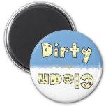 Beach Clean Dirty Dishwasher Magnet