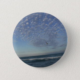 Beach Clouds 2 Inch Round Button