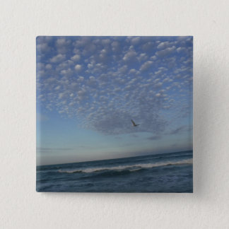 Beach Clouds 2 Inch Square Button