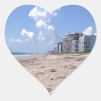 Beach Clouds Heart Sticker