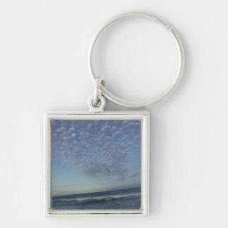 Beach Clouds Keychain