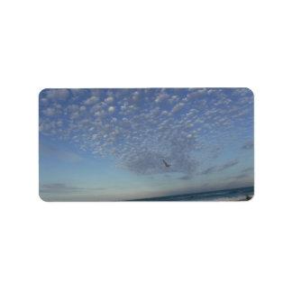 Beach Clouds Label