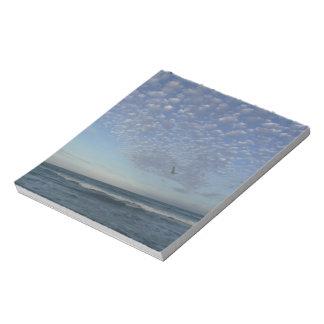 Beach Clouds Notepad
