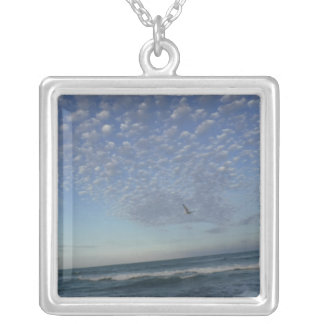 Beach Clouds Silver Plated Necklace
