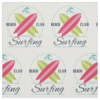 Beach Club Surfing custom fabric