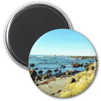 Beach Coast In Monterey Ocean Water Sea Magnet