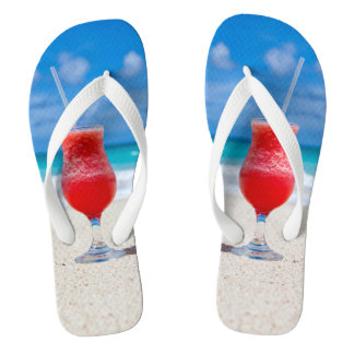 Beach Cocktail Flip Flops
