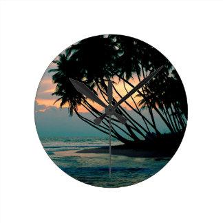 Beach Colombo Sri Lanka Clock