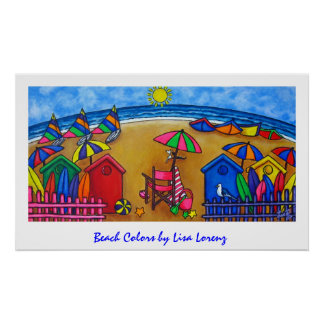 Beach Colors Painting Print
