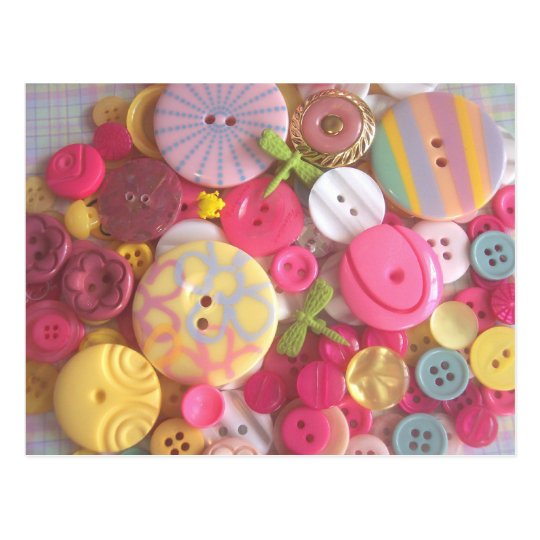 Beach Colour Buttons Postcard