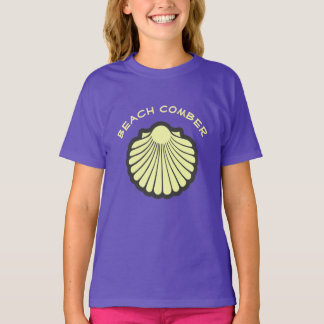 Beach Comber Yellow Scallop Shell T-Shirt