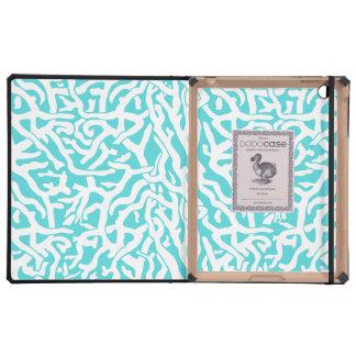 Beach Coral Reef Pattern Nautical White Blue iPad Covers