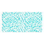 Beach Coral Reef Pattern Nautical White Blue Picture Card