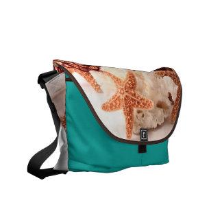 Beach Coral Star Fish Sand Ocean Bag Tote Purse Messenger Bags