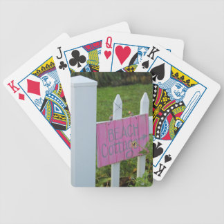 Beach Cottage Bicycle Playing Cards