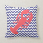 Beach Cottage Lobster Accent Pillow