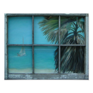 BEACH COTTAGE VIEW Poster