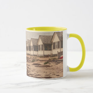 beach cottages mug