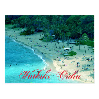Beach Cove at Waikiki in Oahu Postcard