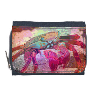 Beach Crab Denim Wallet