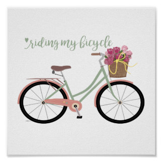 Beach Cruiser Bicycle Poster