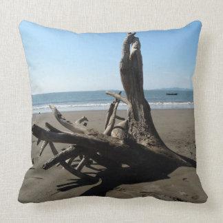 Beach cushion throw pillow