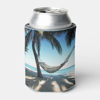 Beach Custom Can Cooler