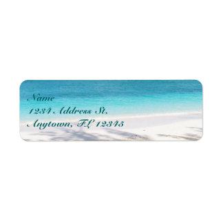 Beach custom return address labels