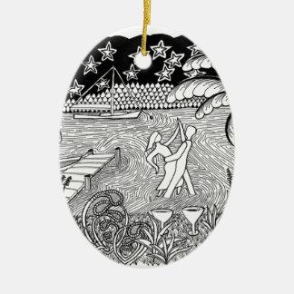 Beach Dancing Zentangle Style Ornaments