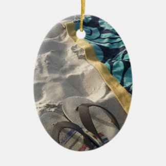 Beach Day Ceramic Ornament