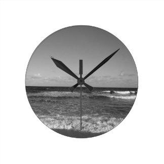 Beach Day Round Clock