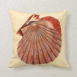 Beach Decor Accent Pillow Large Sea Shells
