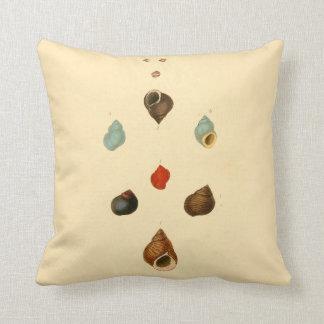 Beach Decor Throw Pillow Small Sea Shells