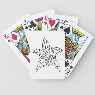 Beach Design Salty Kisses and Starfish Wishes Poker Deck