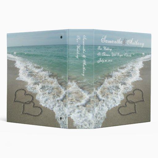 Beach Destination or Cruise Wedding Album Planner 3 Ring Binder