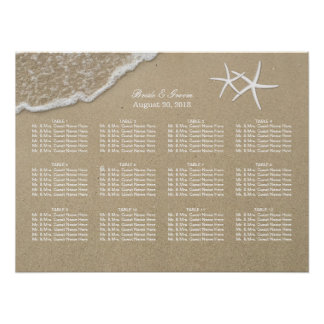 Beach Destination Starfish Wedding Seating Chart
