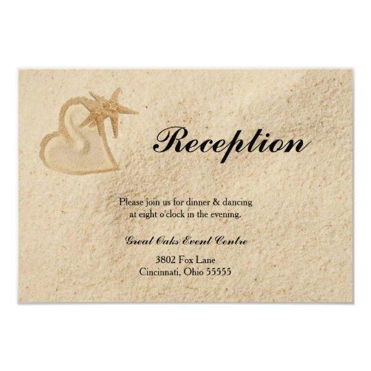 Beach Destination Wedding Reception Card
