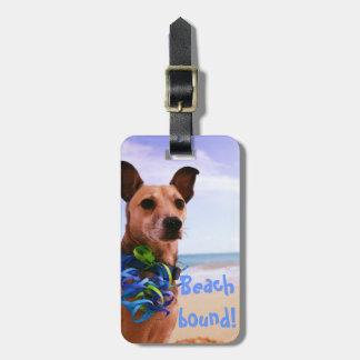 Beach Dog Luggage Tag
