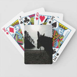 Beach Donkey silohuette Bicycle Playing Cards