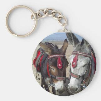 beach donkeys keychain