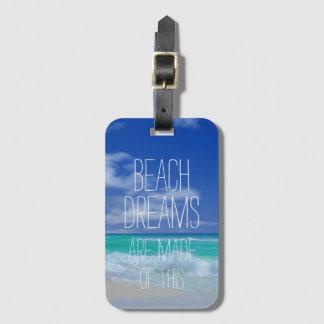 Beach Dreams Bag Tag with ID Insert