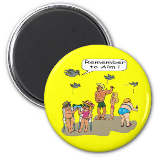 """Beach Droppings"" Magnet"